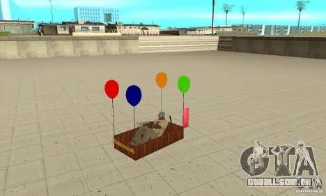 Ballooncraft para GTA San Andreas vista traseira