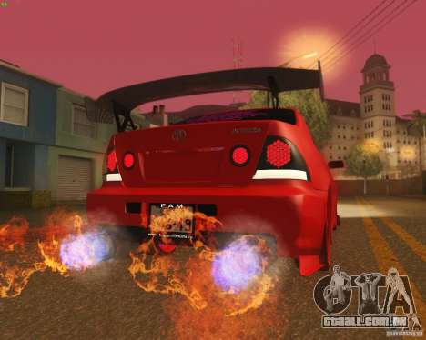 Toyota Altezza Drift Style v4.0 Final para GTA San Andreas vista inferior