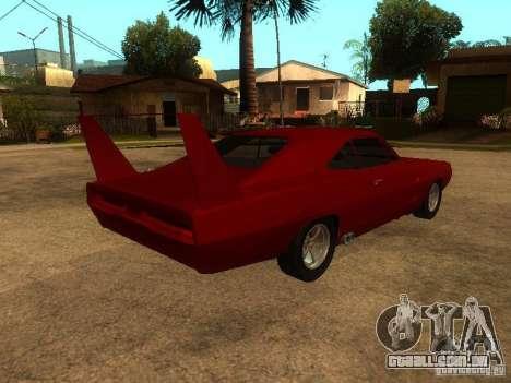 Dodge Charger Daytona Fast & Furious 6 para GTA San Andreas vista inferior