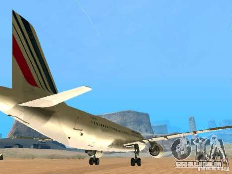 Airbus A320 Air France para GTA San Andreas vista direita