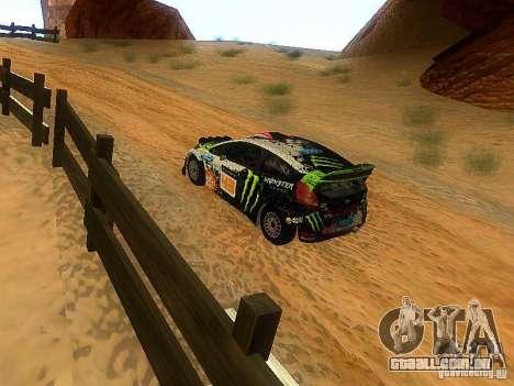 Ford Fiesta RS WRC 2012 para GTA San Andreas vista direita