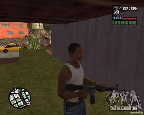 M16 para GTA San Andreas terceira tela