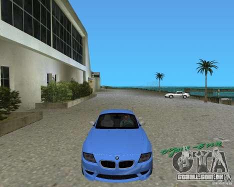BMW Z4 para GTA Vice City vista traseira esquerda