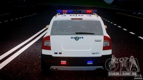 Skoda Octavia Scout NYPD [ELS] para GTA 4 motor