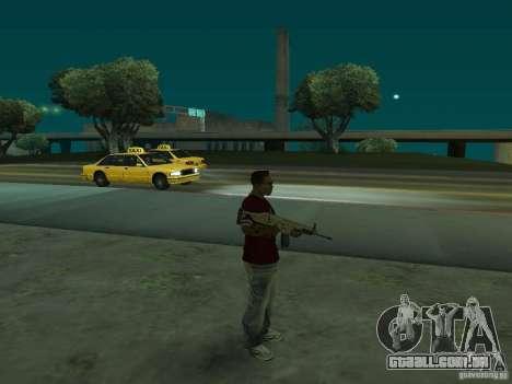FN Scar-L HD para GTA San Andreas terceira tela