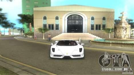 Ferrari Enzo para GTA Vice City vista traseira esquerda