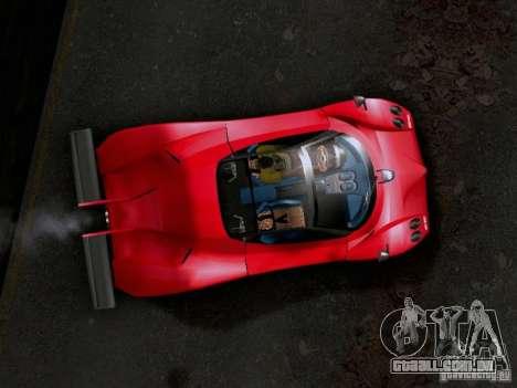 Pagani Zonda EX-R para GTA San Andreas traseira esquerda vista