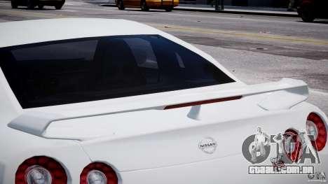 Nissan Skyline GT-R R35 para GTA 4 vista inferior