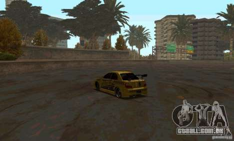 NFS Most Wanted - Paradise para GTA San Andreas nono tela