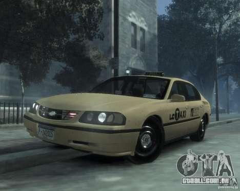 Chevrolet Impala 2003 Taxi para GTA 4