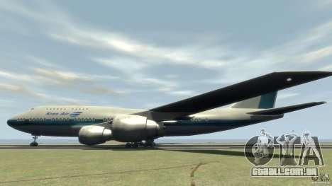 Boening 747-400 Kras Air para GTA 4 esquerda vista