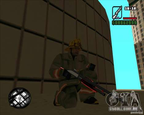Chrome black red gun pack para GTA San Andreas terceira tela