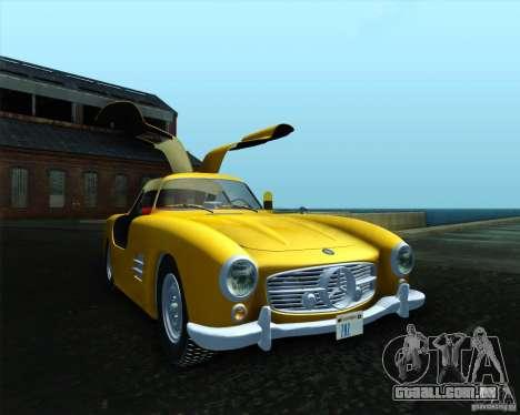 Mercedes Benz 300SL para GTA San Andreas esquerda vista
