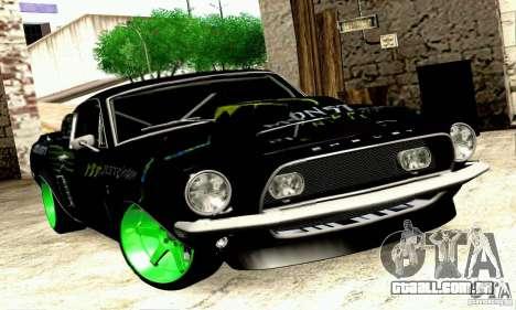 Shelby GT500 Monster Drift para GTA San Andreas traseira esquerda vista