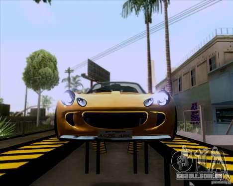 Lotus Exige para GTA San Andreas vista traseira