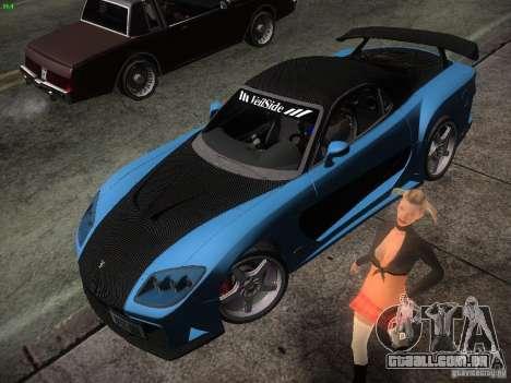 Mazda RX 7 Veil Side para GTA San Andreas esquerda vista