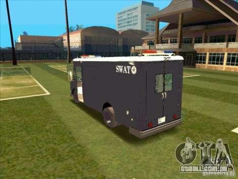 Swat Van from L.A. Police para GTA San Andreas vista direita