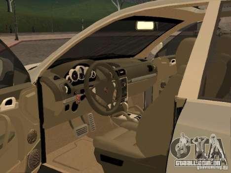 Porsche Cayenne para GTA San Andreas traseira esquerda vista