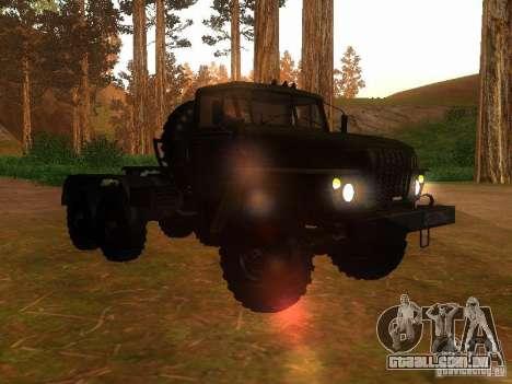 Trator de Ural-4420 para GTA San Andreas vista traseira