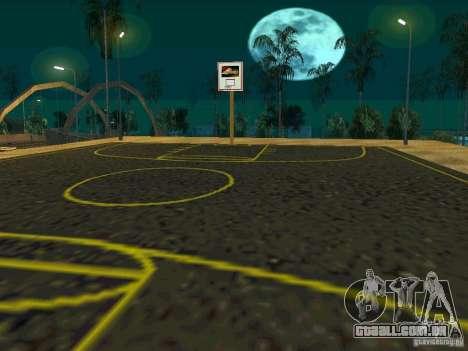 New basketball court para GTA San Andreas por diante tela