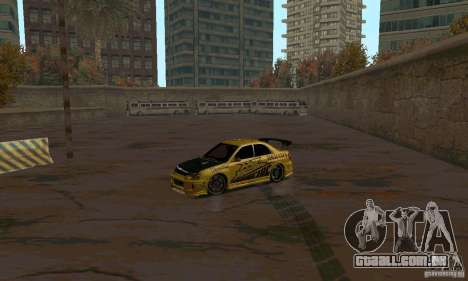 NFS Most Wanted - Paradise para GTA San Andreas twelth tela