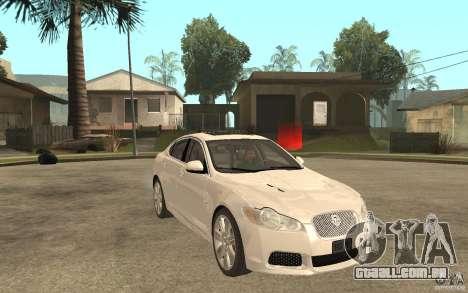 Jaguar XFR para GTA San Andreas vista traseira