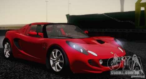 Lotus Elise 111s 2005 v1.0 para GTA San Andreas traseira esquerda vista