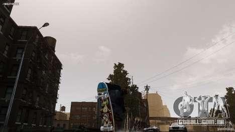 Skate # 4 para GTA 4 traseira esquerda vista