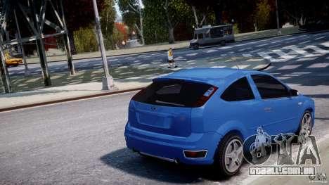 Ford Focus ST para GTA 4 vista inferior
