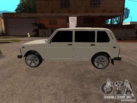 VAZ 2131 para GTA San Andreas traseira esquerda vista