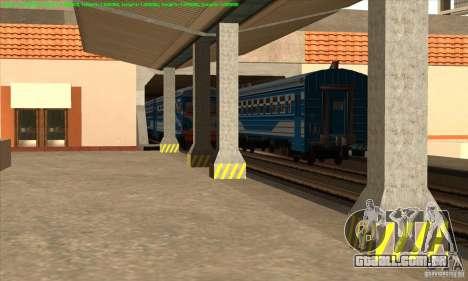 Aumento de transporte de trens para GTA San Andreas terceira tela