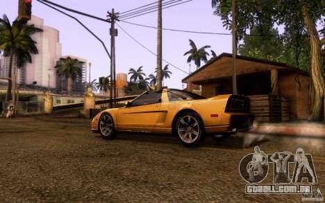 Acura NSX Targa para GTA San Andreas esquerda vista