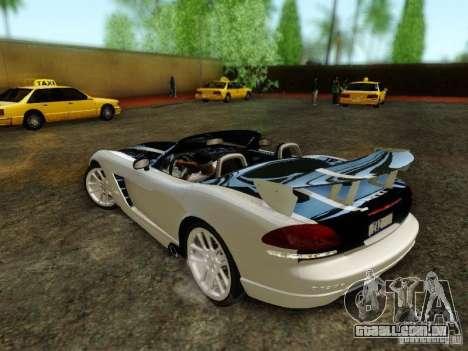 Dodge Viper SRT-10 Roadster ACR 2004 para GTA San Andreas vista inferior