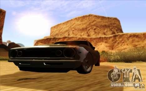 ENBSeries HD para GTA San Andreas por diante tela