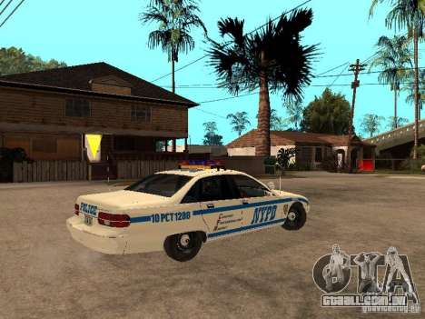 NYPD Chevrolet Caprice Marked Cruiser para GTA San Andreas vista direita