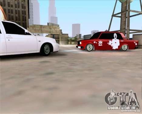 VAZ 2107 Gangsta para GTA San Andreas esquerda vista