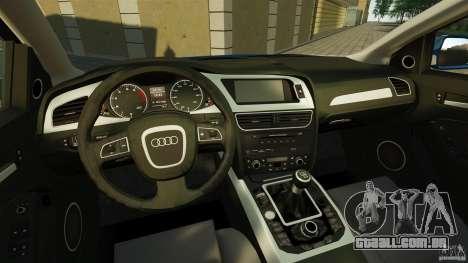 Audi A4 2010 para GTA 4 vista de volta