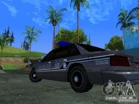 Lumpkin Country Sheriffs Office para GTA San Andreas vista interior
