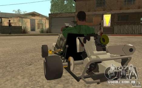 Hayabusa Kart para GTA San Andreas traseira esquerda vista