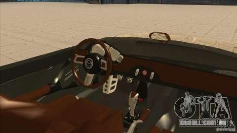 Mazda MX5 Miata Superlight 2009 V1.0 para GTA San Andreas vista interior