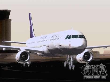 Airbus A321 Air Macau para GTA San Andreas vista inferior