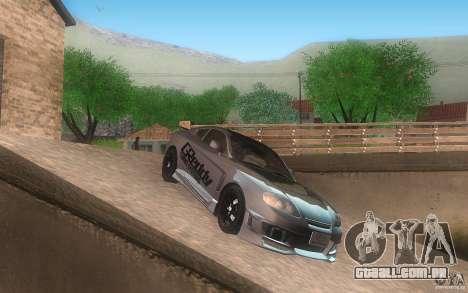 Hyundai Tiburon V6 Coupe tuning 2003 para GTA San Andreas traseira esquerda vista