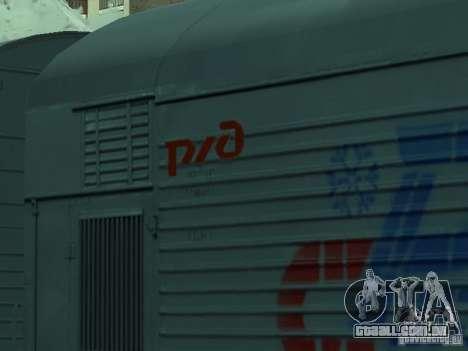 Refrigerador do carro para GTA San Andreas vista direita