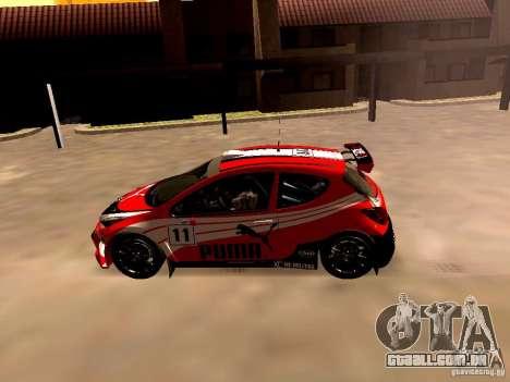 Peugeot 207 S2000 Puma para GTA San Andreas esquerda vista