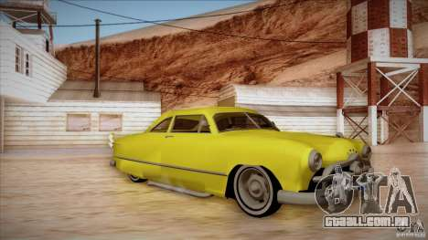 Ford Coupe Custom 1949 para GTA San Andreas esquerda vista