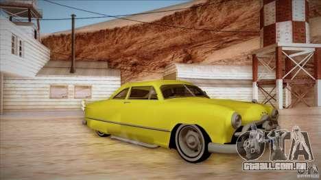 Ford Coupe Custom 1949 para GTA San Andreas esquerda vista