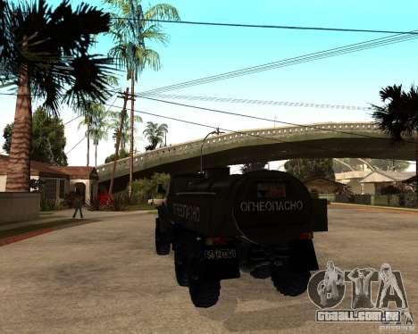 Ural 4320 caminhão para GTA San Andreas vista direita
