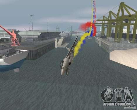 Multi colorido tiras para aeronaves para GTA San Andreas quinto tela