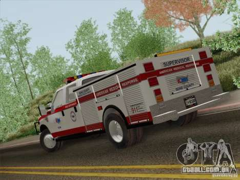 Ford F-350 AMR Supervisor para GTA San Andreas vista superior