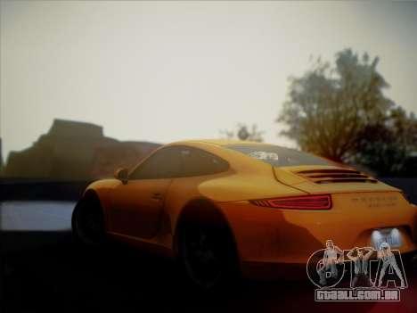 Porsche 911 (991) Carrera S para GTA San Andreas vista traseira